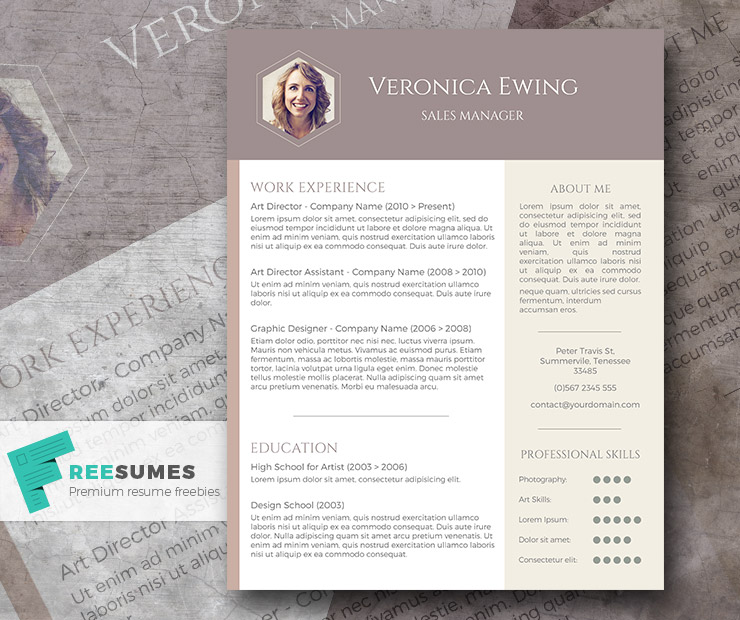 free professional cv template - honeycomb photo
