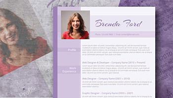 purple free resume
