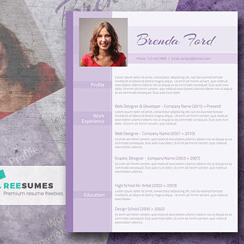 purple free resume