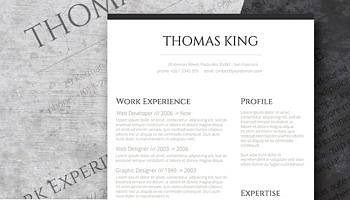 free template for resume in word
