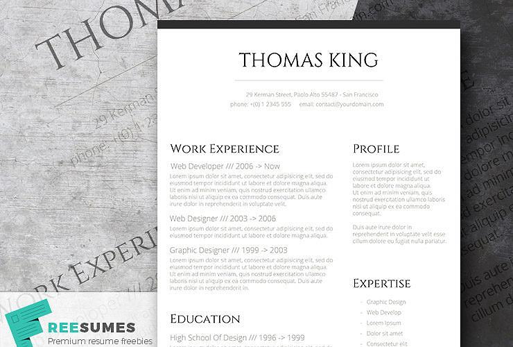 classic resume templates keep it simple to succeed freesumes