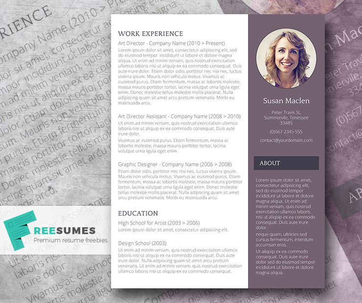 free resume template the sophisticated candidate - Free Resume Templates In Word