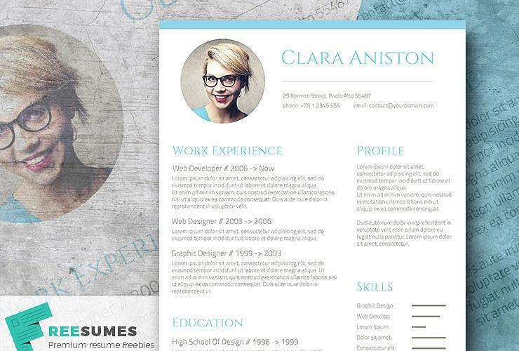 freebie resume template
