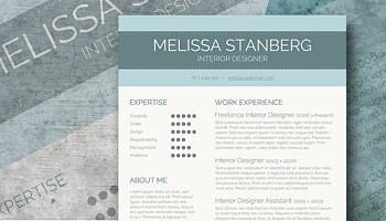 modern resume freebie