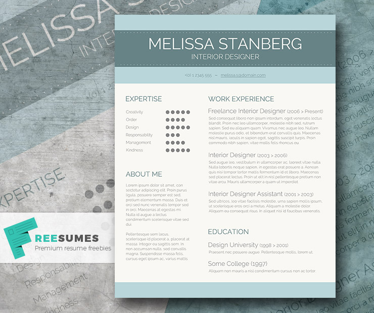 stylish cv template freebie