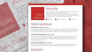 red resume design