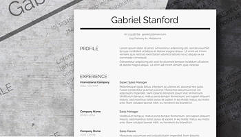 professional resume template freebie sleek and simple