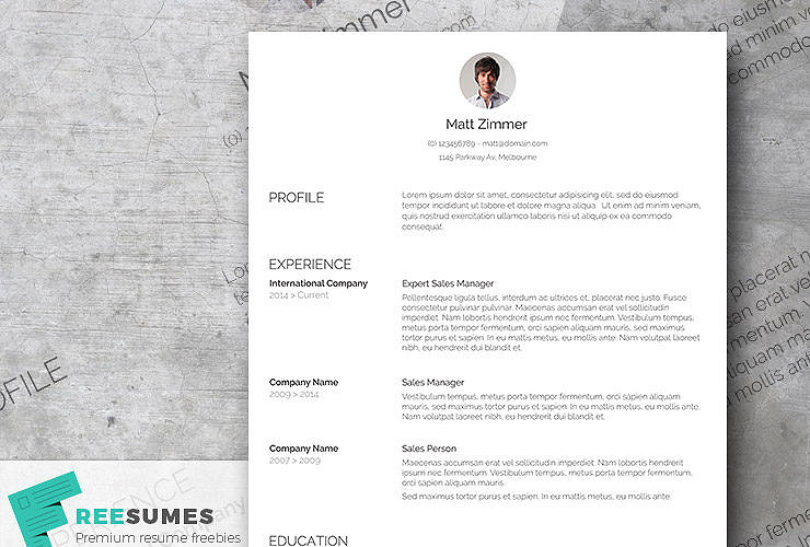 clean cv layout