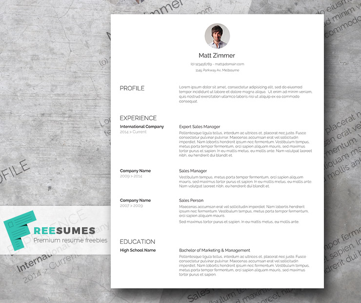 spick and span  u2013 a clean resume template freebie