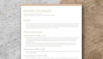 smart resume layout