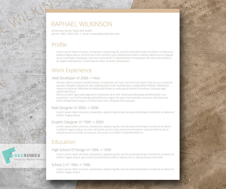 crafty and casual  u2013 a smart resume template for free