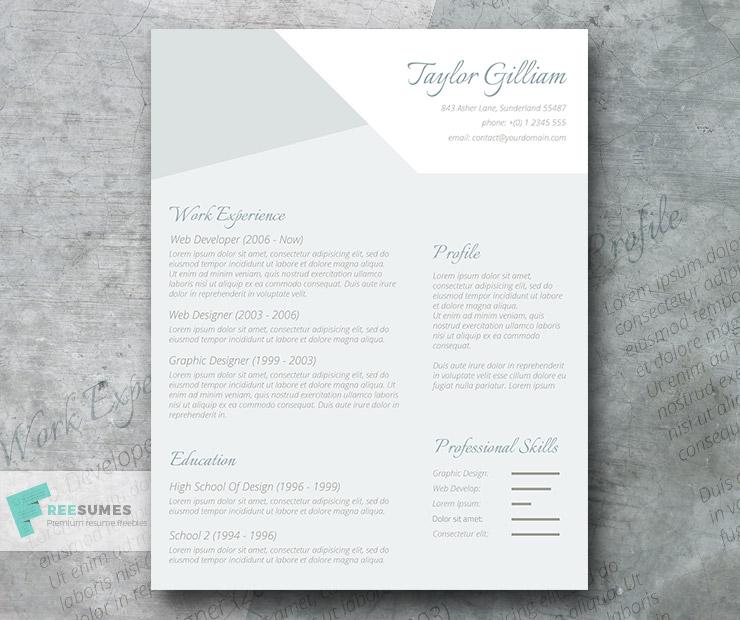 subtle resume design