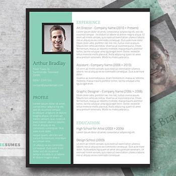 artistic resume design