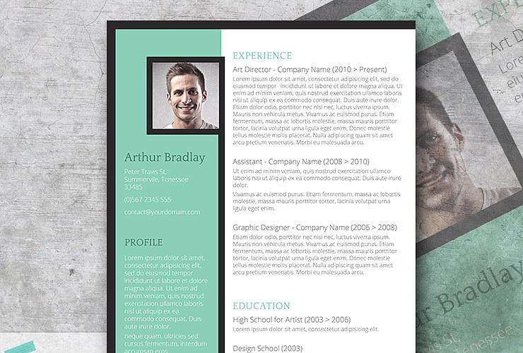 artistic resume design