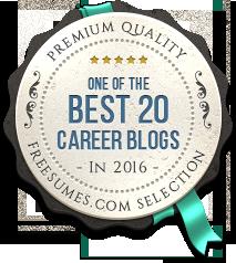Freesumes Best 20 career blogs award
