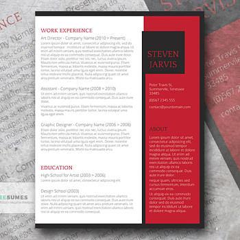 bold resume design