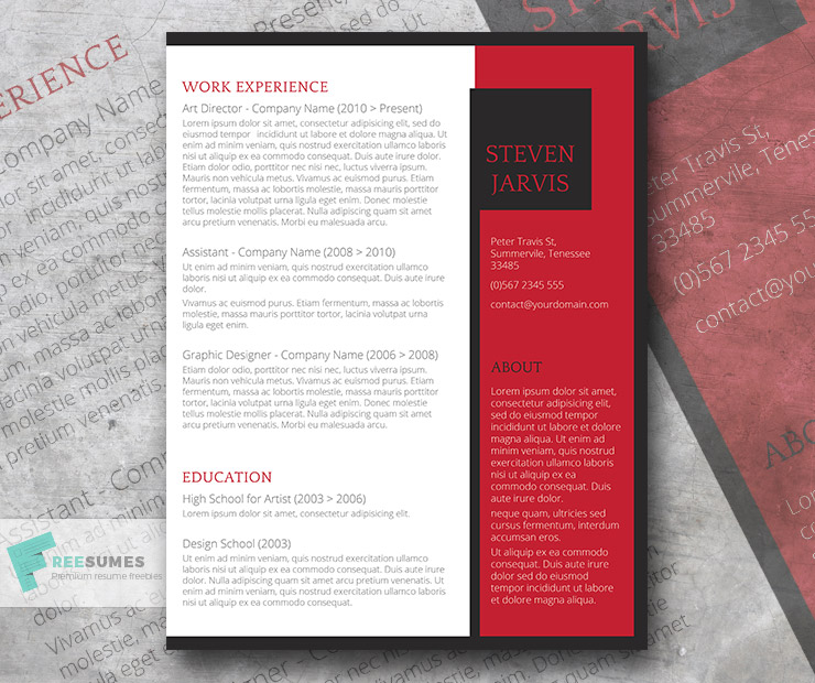 bold resume design