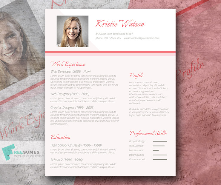 sophisticated lady cv template freebie - the urbane woman