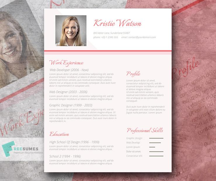 feminine resume design