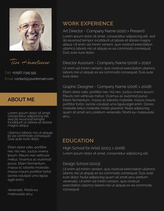 Dark Resume Charchoal Black