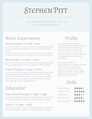Cold as Ice Resume Design