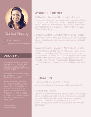 Modern U0026 Chic Resume Template  Resume Template With Photo