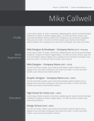 Modish and Elegant Resume Template