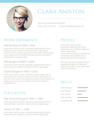 Simple Snapshot Photo Resume