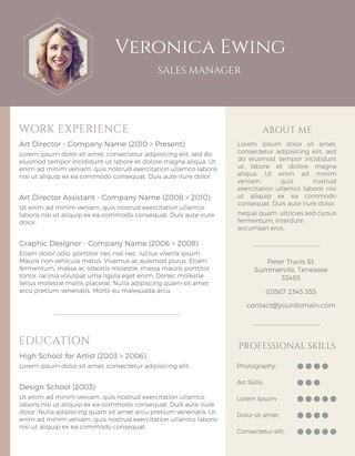 Honeycomb Photo Resume Design