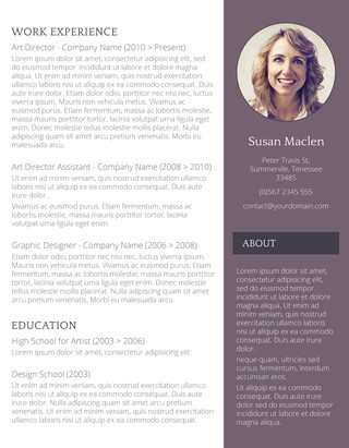 The Sophisticated Candidate Resume Template