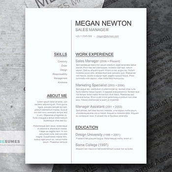 simple cv template Word