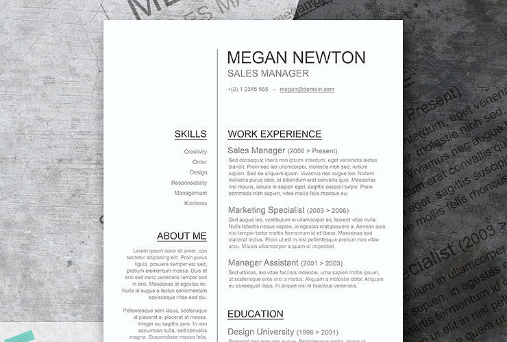plain and simple a basic resume template giveaway - Simple Resume Template Word