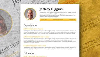 creatively smart a stylish resume template freebie