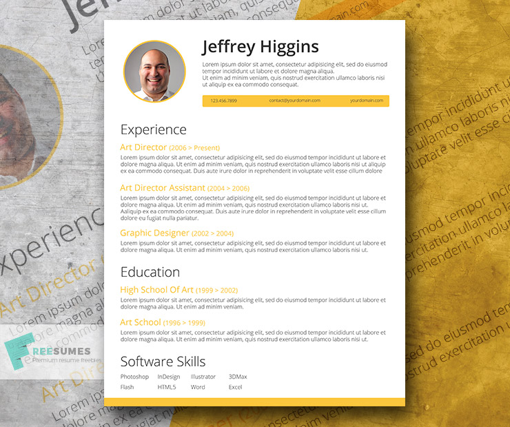 creatively smart a stylish resume template freebie