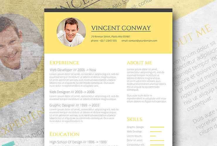 subtle yellow the trendy resume template giveaway