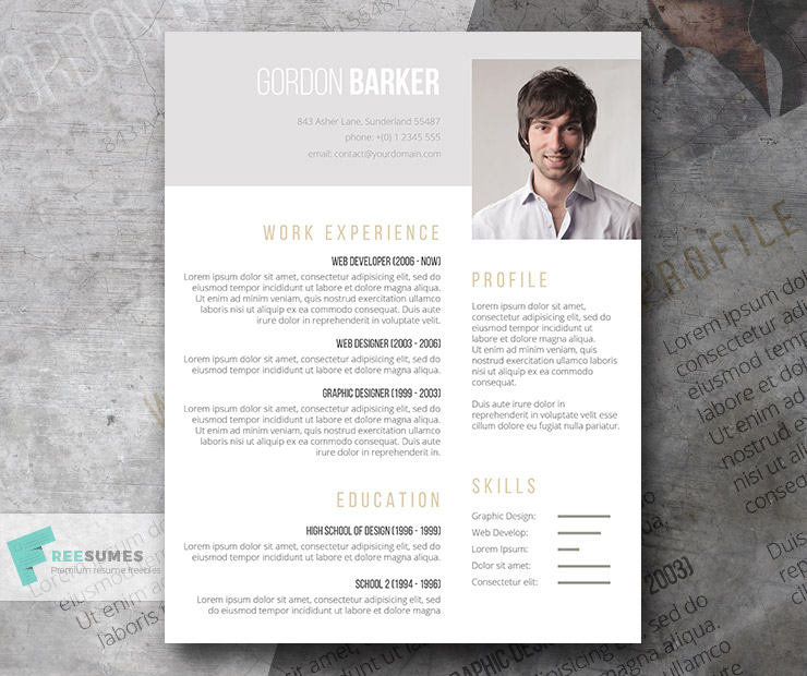 Pay What You Want Resume Template U2013 Smart Portfolio  Portfolio Word Template