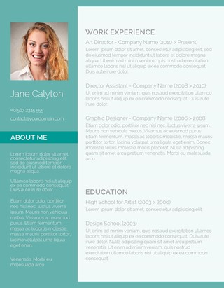 Resumes Templates For Creatives
