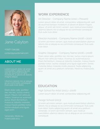free resume templates - Free Resume Fonts