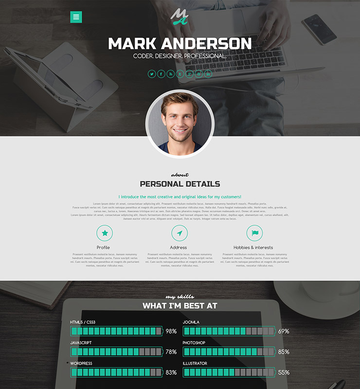 highclass portfolio theme