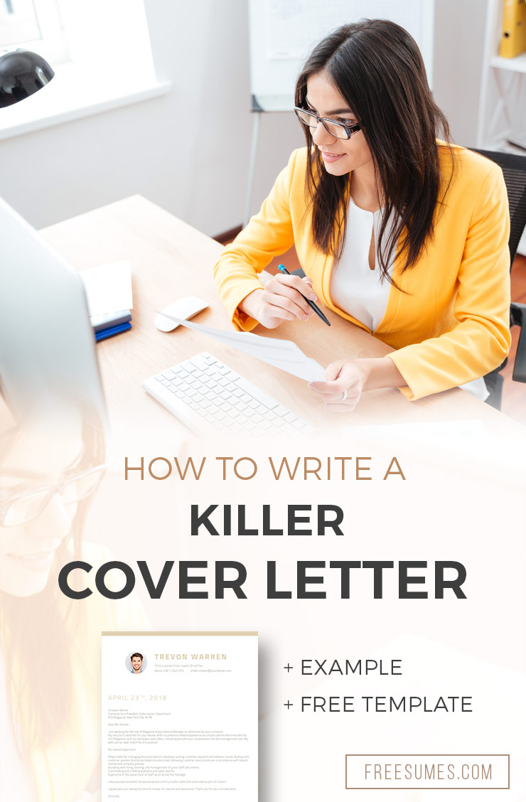 How To Write A Killer Cover Letter + Example + Free Template - Freesumes