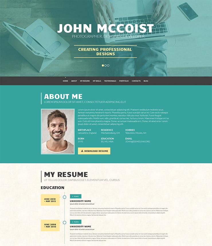 persuasive web resume
