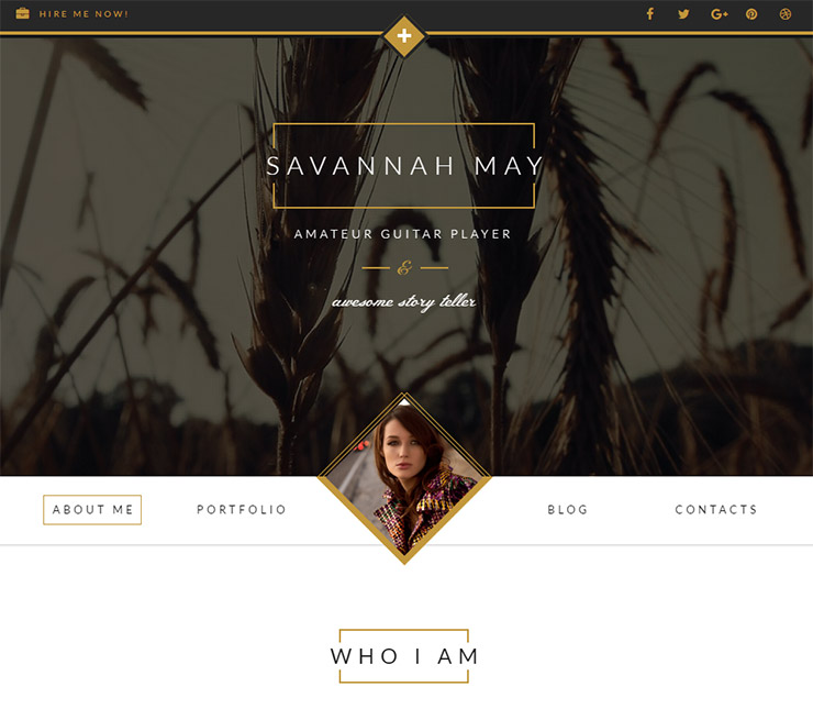 Savannah Responsive WordPress vCard Portfolio