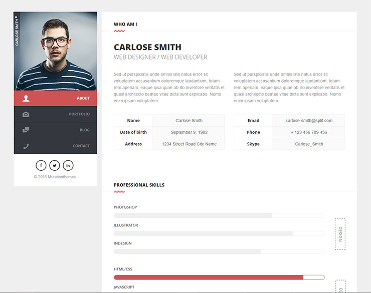 15 best wordpress resume cv themes