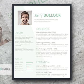 free template for resume
