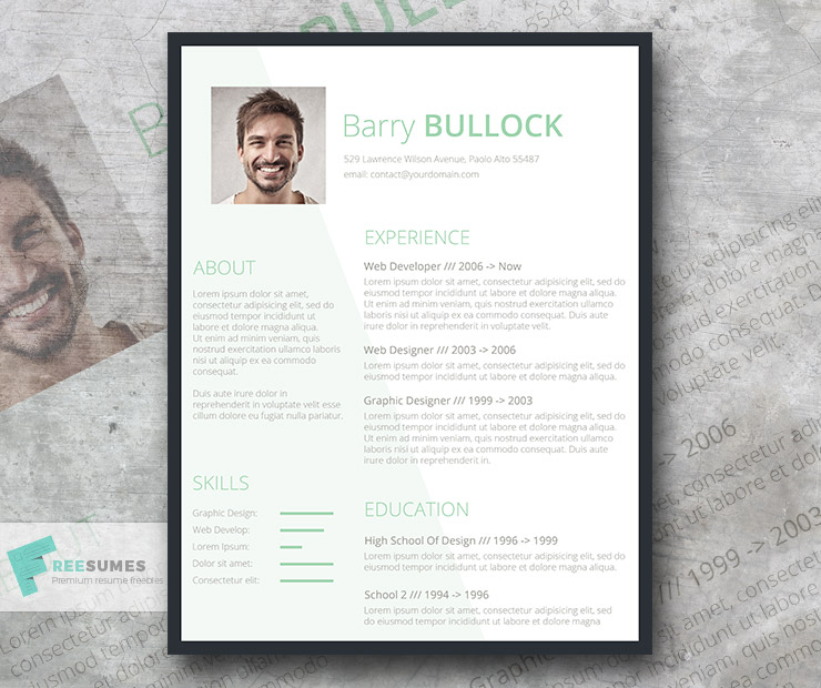 Free Template for Resume - Basic and Light