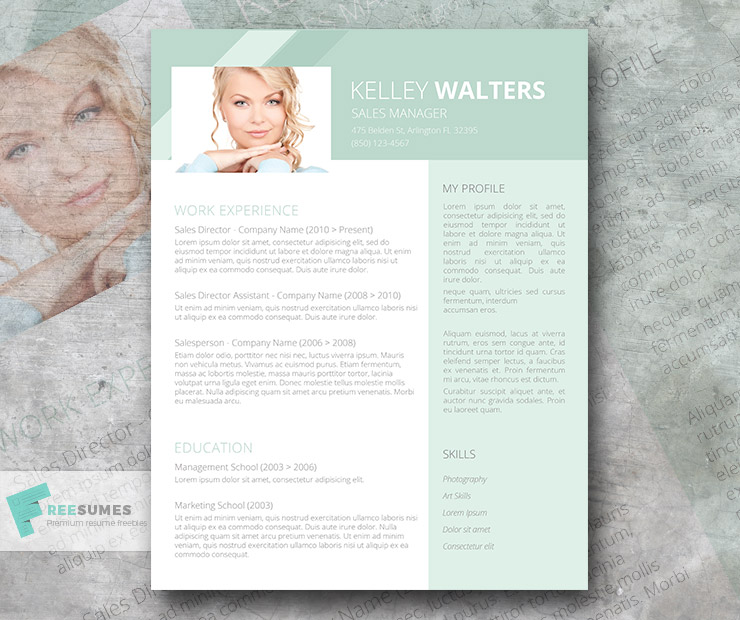 Sales Resume Template Giveaway - Humble Green - Freesumes