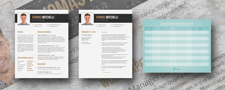 Earthy Tones resume package