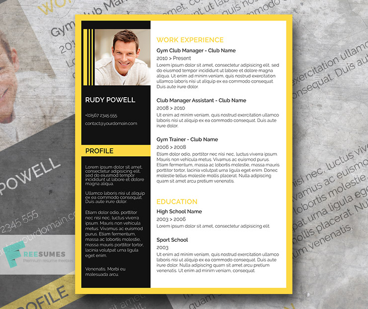 yellow black finish  u2013 a free resume template must