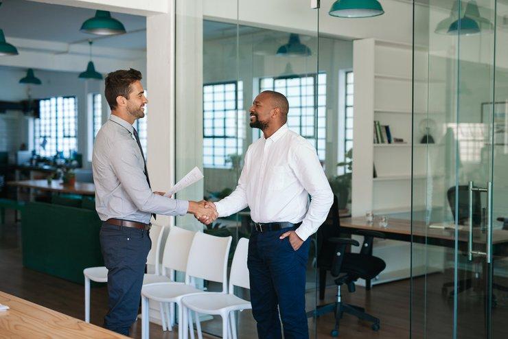 confident applicant job interview