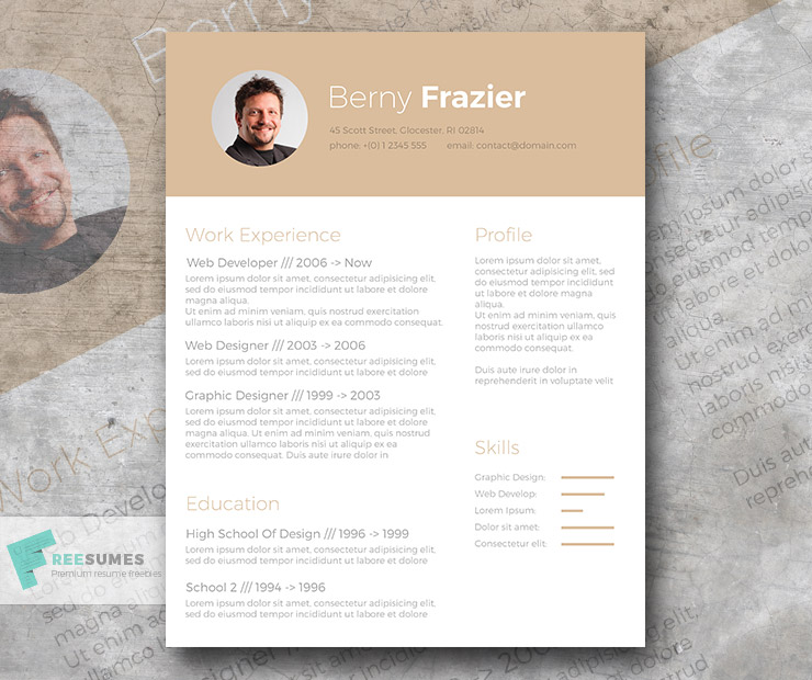 golden brown a trendy resume template design for free freesumes